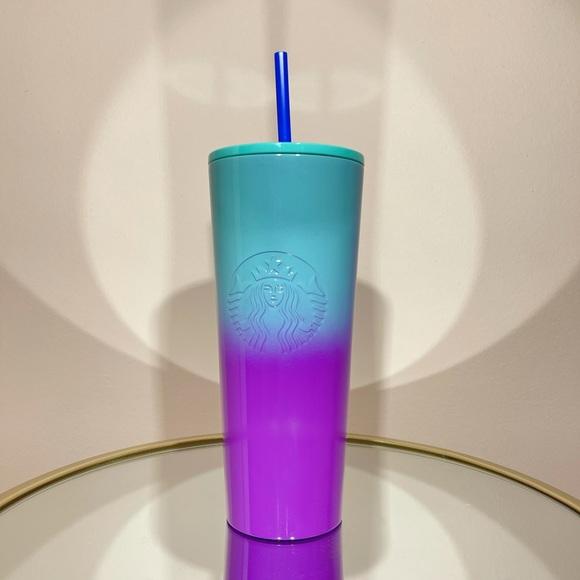 Starbucks Ombre Blue Purple Stainless Tumbler